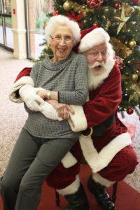 Lady on Santa's lap at MVT